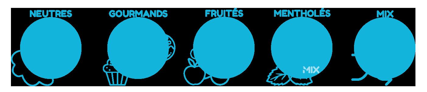 saveurs variées des e-liquides