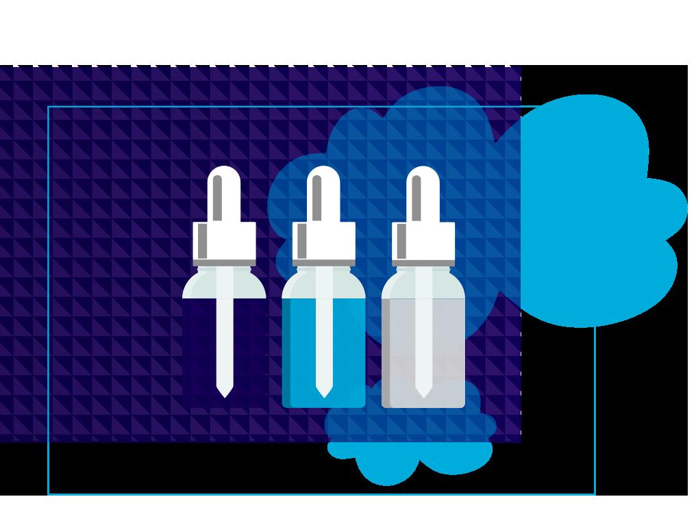 flacons e-liquide