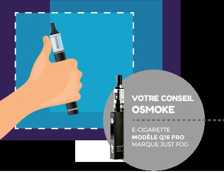 modèle e-cigarette marque just fog